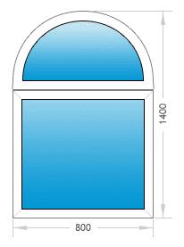 Цены на арочные окна -